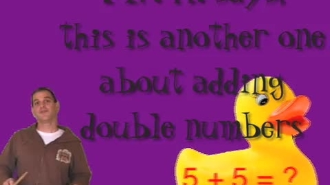 Thumbnail for entry math songs adding 5 + 5 (Five Bees)