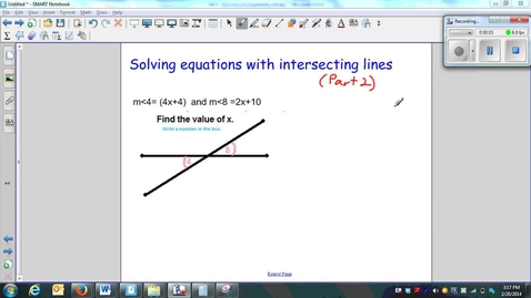 Thumbnail for entry Solving equations with intersecting lines (part 2)-W5-Q10