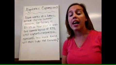 Thumbnail for entry Algebra I - Sect 1-8 Algebraic Expressions