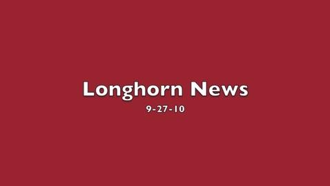 Thumbnail for entry Longhorn News 9-27-10