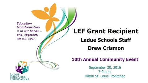 Thumbnail for entry LEF Grant Recipient - Teacher Drew Crismon