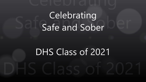 Thumbnail for entry Dudley High School Safe and Sober Video