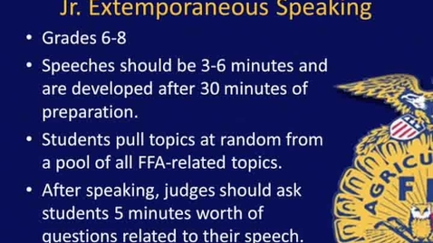 Thumbnail for entry Jr. Extemp Speaking Overview