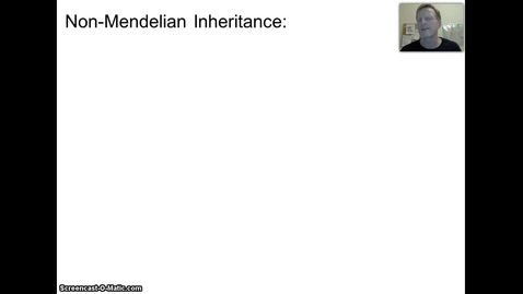 Thumbnail for entry Non-Mendelian Heredity