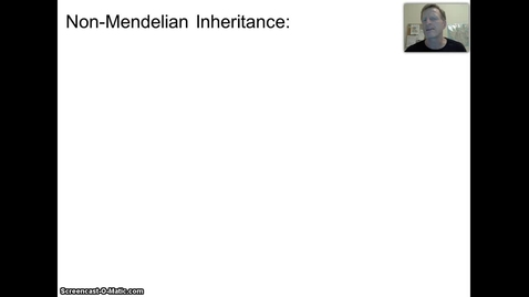 Thumbnail for entry Non-Mendelian Heredity