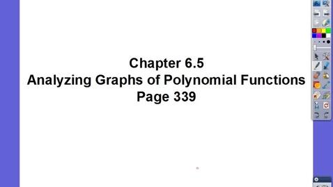 Thumbnail for entry Algebra II Ch 6.5