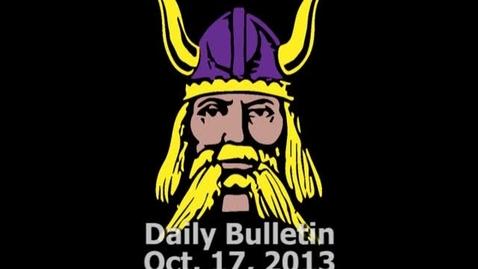 Thumbnail for entry PHS Daily Bulletin 10-17-13