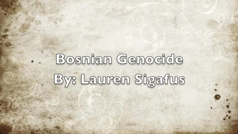 Thumbnail for entry Bosnian Genocide