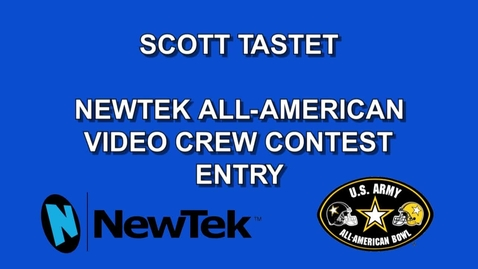 Thumbnail for entry NewTek All-American Video Crew Contest Entry by Scott Tastet
