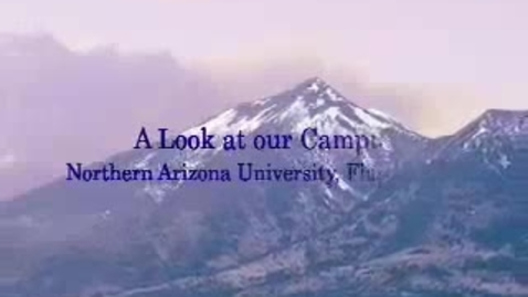 Thumbnail for entry The Campus of Northern Arizona Universtity Lumberjacks