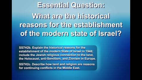 Thumbnail for entry Establishment of Israel.mov