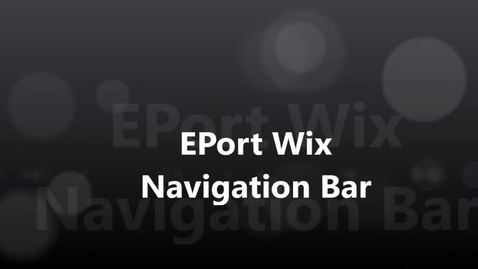 Thumbnail for entry EPort Navigation Bar 2017
