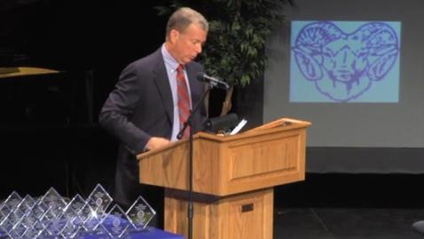 Thumbnail for entry Ladue High School - 2012 Distinguished Alumni, Robert K. Kolbrener
