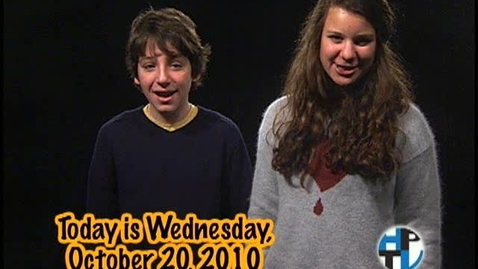 Thumbnail for entry Wednesday, October 20, 2010