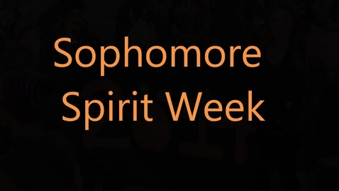 Thumbnail for entry Whs 2014 Soph Spirit Week