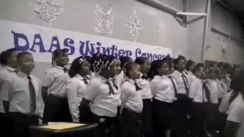 Thumbnail for entry DAAS Choir at the winter concert