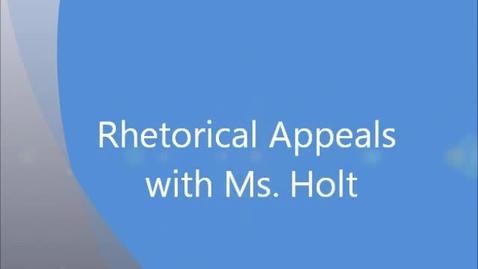 Thumbnail for entry Rhetorical Appeals- Ethos