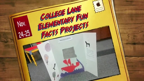 Thumbnail for entry College Lane Fun Facts Project