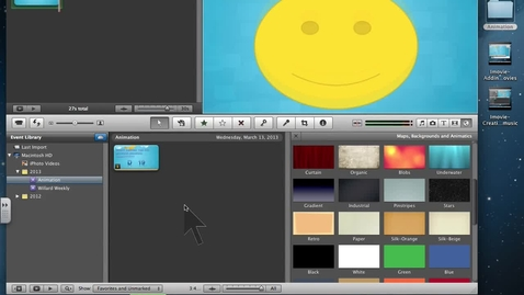 Thumbnail for entry Imovie- Titles, Backgrounds and Transitions