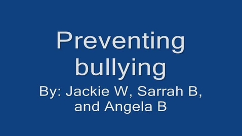 Thumbnail for entry Prohibiting the Bullies