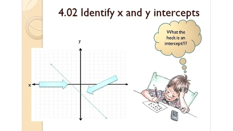 Thumbnail for entry 4.02 X and Y Intercepts
