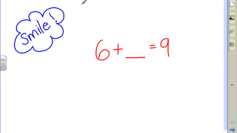 Thumbnail for entry 1st Grade Addition with Missing Addends