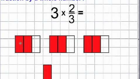 Thumbnail for entry Multiply Fractions & Whole Numbers (10.1) Using Fraction Models or Number Lines