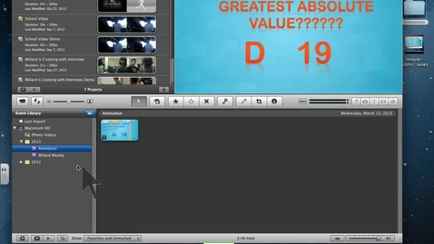 Thumbnail for entry Imovie- Creating a project and adding music