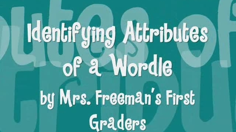 Thumbnail for entry Identifying Characteristics of a Wordle