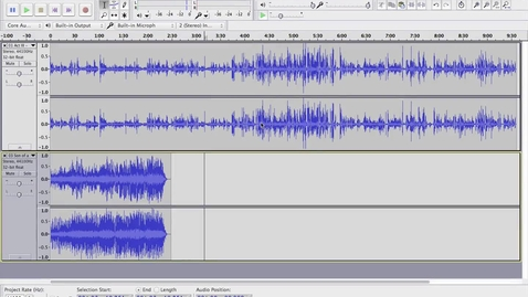 Thumbnail for entry Editing in Audacity: Exporting Files