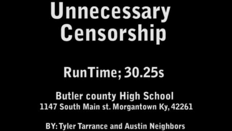 Thumbnail for entry Unnecessary Censorship