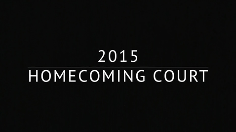 Thumbnail for entry MHS introduces 2015 homecoming court