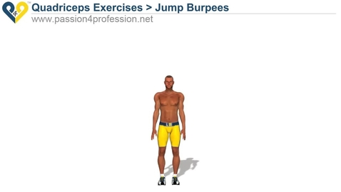 Thumbnail for entry Jump Burpees (quads exercises )