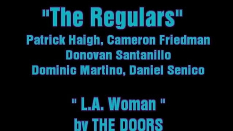Thumbnail for entry The Doors, L.A. Woman, performed by THE REGULARS