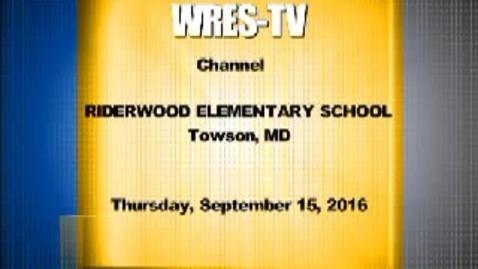 Thumbnail for entry September 15, 2016, WRES-TV Morning Announcements