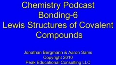 Thumbnail for entry Bonding5 Lewis Structures Covalent Compounds