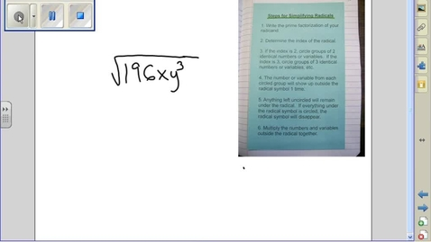 Thumbnail for entry Simplifying Radicals example 12