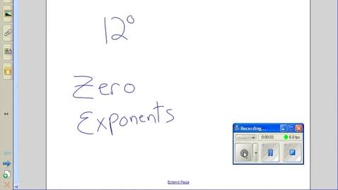 Thumbnail for entry Zero exponents example 1
