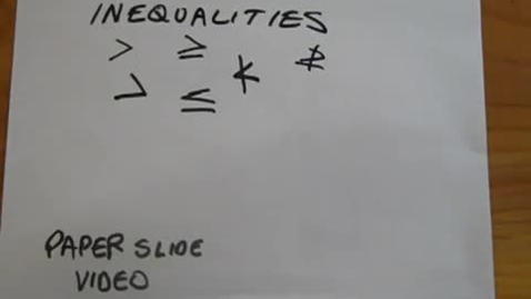 Thumbnail for entry Inequalities Review  Juda Math