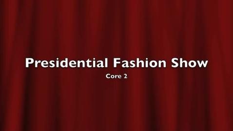 Thumbnail for entry Presidential Fashion Show