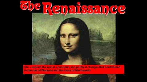 Thumbnail for entry Renaissance - Student Notes