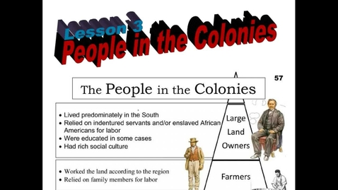 Thumbnail for entry Hist6-Ch4-Lesson 3-People in the Colonies
