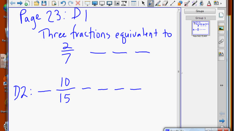 Thumbnail for entry Equivalent Fractions
