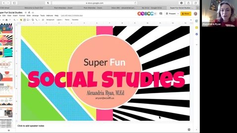 Thumbnail for entry FCSS Spring Virtual Conference Session: Super Fun Social Studies (and how to show what we know)