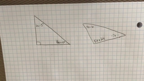 Thumbnail for entry Mr. Lamarre's Extra Help: Finding X in Triangles