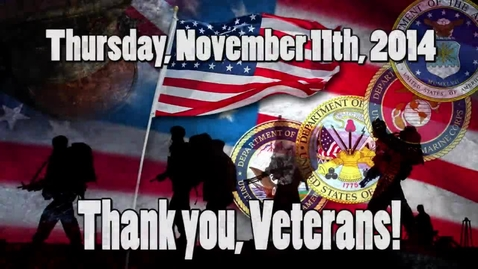 Thumbnail for entry WSCN 11.11.14 Veteran's Day