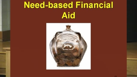 Thumbnail for entry Financial Aid Pt. 2