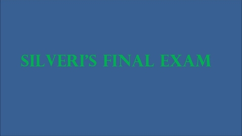 Thumbnail for entry Silveri's Final