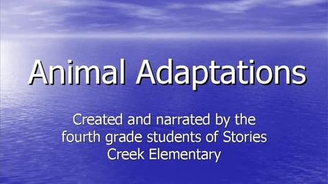 Thumbnail for entry Animal Adaptations