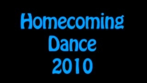 Thumbnail for entry 2010 Homecoming Dance
